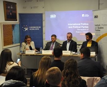 "Publication of ""International Politics and Political Parties: Perceptions of Kosovo citizens"""