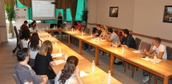 Training for the informants of the publication regarding the perceptions of kosovars for the SAA